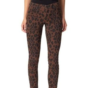 Jessica Simpson Women's Brown Leopard Stretch Jean
